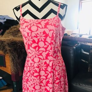 Lilly Pulitzer bright pink preppy sundress size 10
